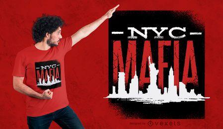 Diseño de camiseta de la mafia de Nueva York