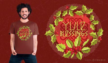 Diseño de la camiseta de Yule Blessings