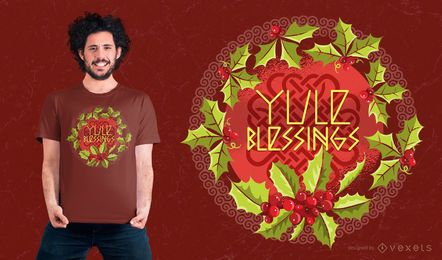 Yule Blessings T-shirt Design