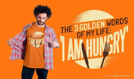 Soy diseño de camiseta hambrienta