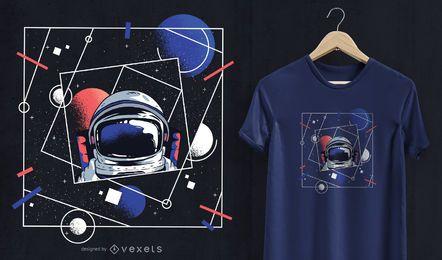 Diseño de camiseta de astronauta del universo