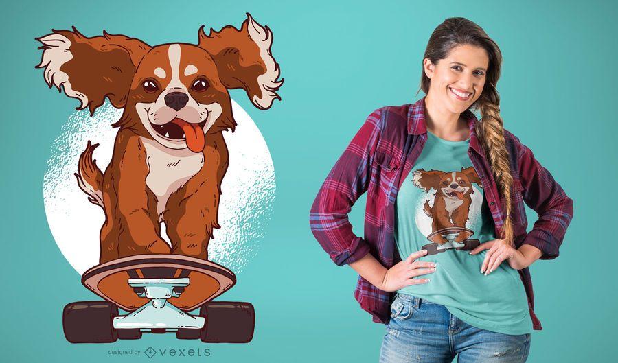 Patinaje perro camiseta diseño