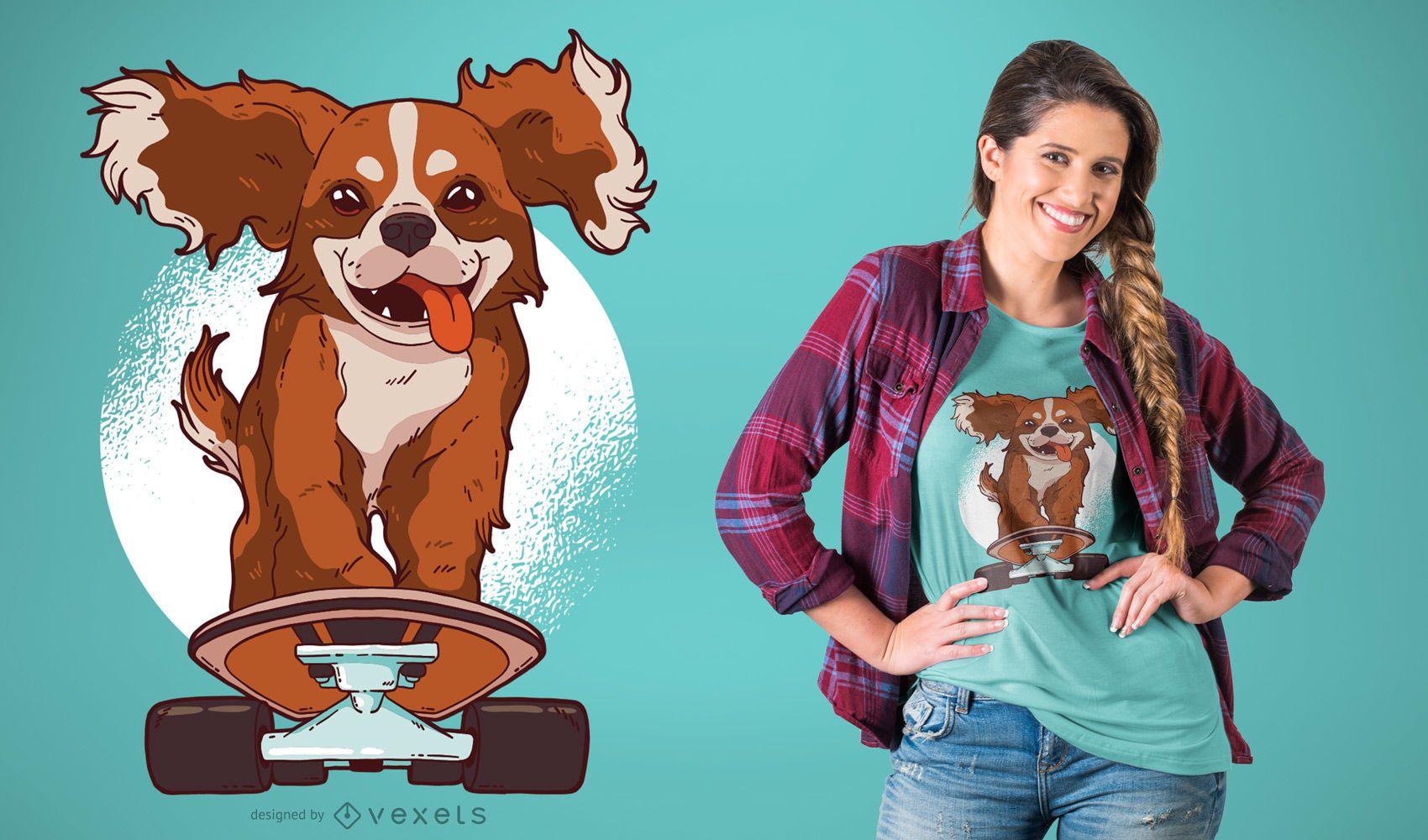 Skating Dog T-Shirt Design