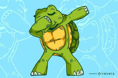 Tupfendes Schildkröten-Design