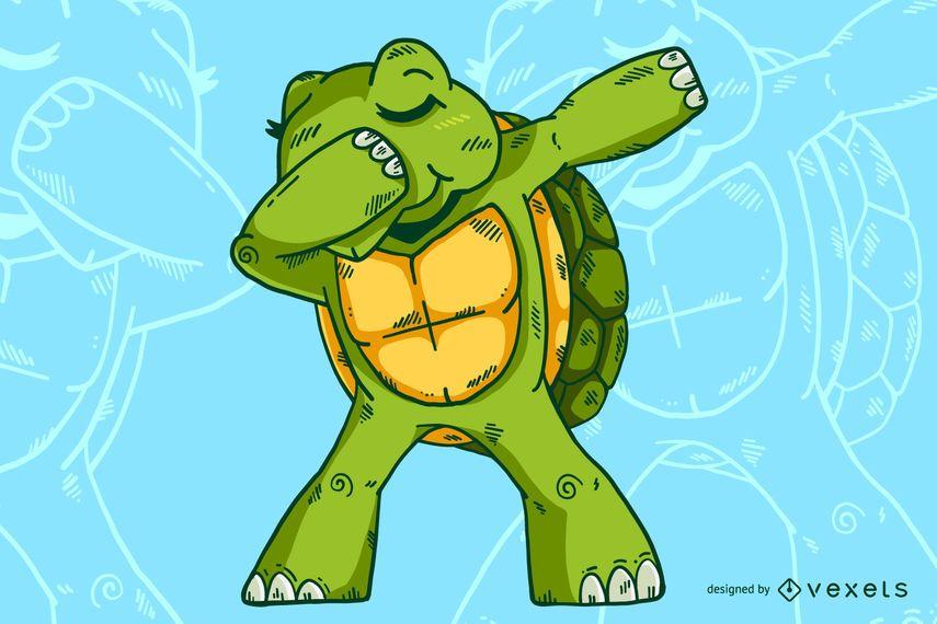 Dabbing Turtle Design