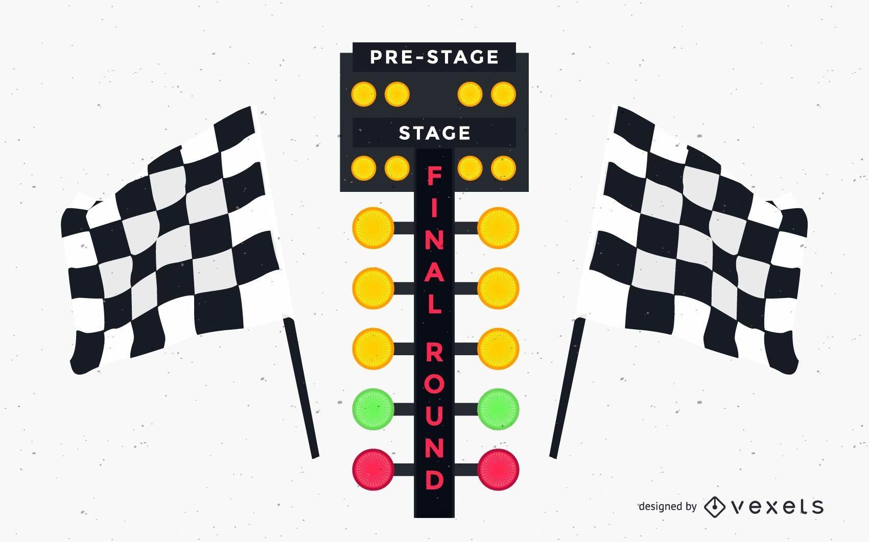 Drag Race Lights Design
