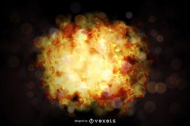 Brand Explosionsentwurf