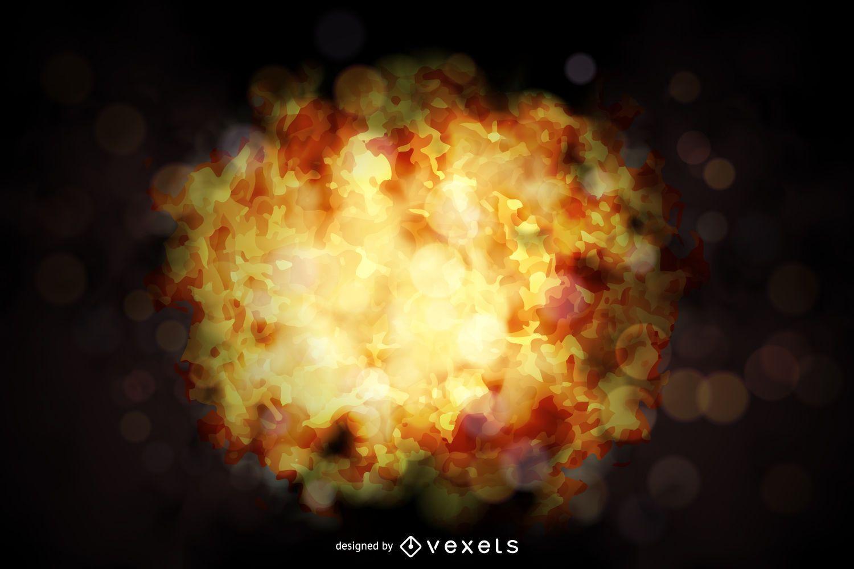 Diseño de explosión de fuego