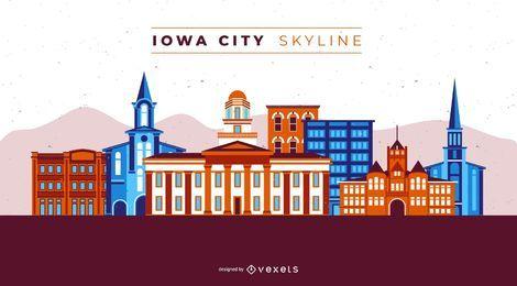 Horizonte de la ciudad de Iowa