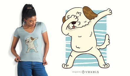 Tupfendes Morkie Hunde-T-Shirt Design
