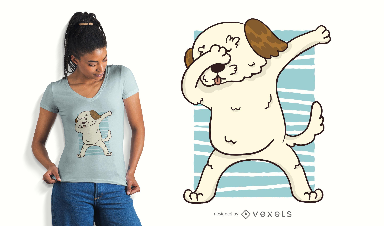 Dabbing Morkie Dog T-Shirt Design