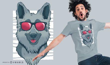 Diseño fresco de la camiseta del pastor alemán