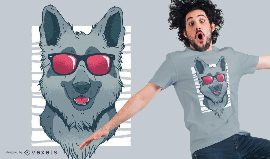 Design legal do t-shirt do pastor alemão