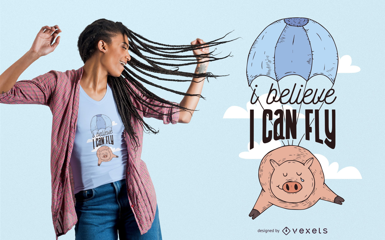Flying Pig T-Shirt Design