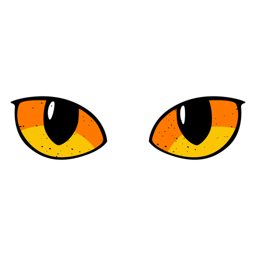 Cat eyes illustration Transparent PNG