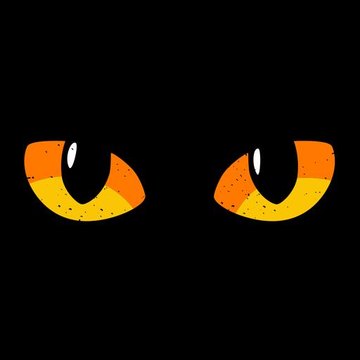 Ilustración de ojos de gato Transparent PNG