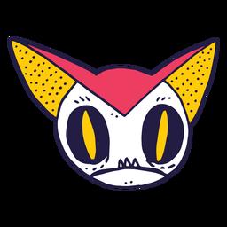 Doodle de gato assustador