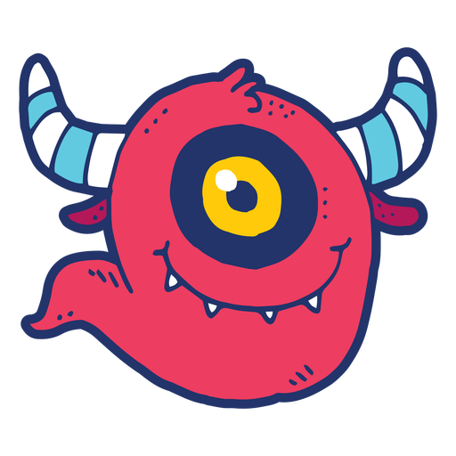 Monster doodle Transparent PNG