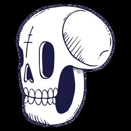 Ilustración de doodle de cráneo