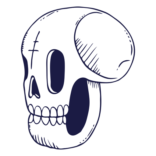Skull doodle illustration Transparent PNG