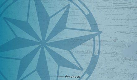 Projeto do fundo da estrela da bússola náutica
