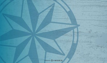 Seekompass-Stern-Hintergrund-Design
