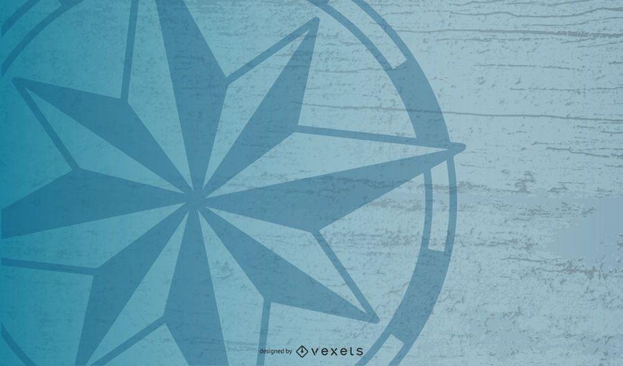Brújula náutica Star Background Design
