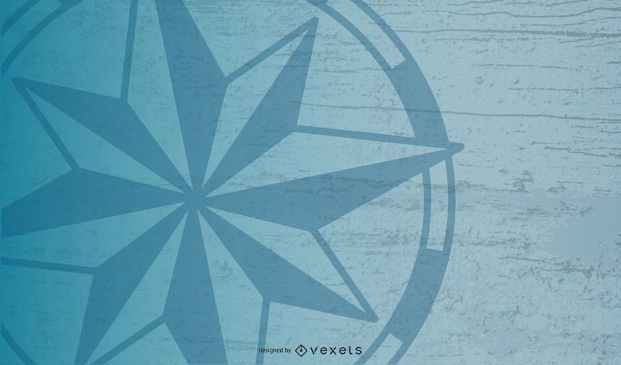 Nautical Compass Star Background Design