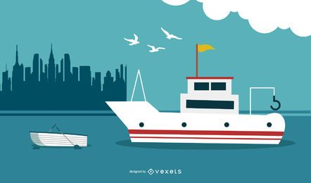 Yacht Nautical Background