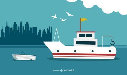Yacht Nautical Background