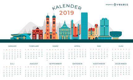 Diseño de calendario alemán