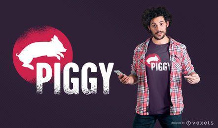 Diseño de camiseta Piggy