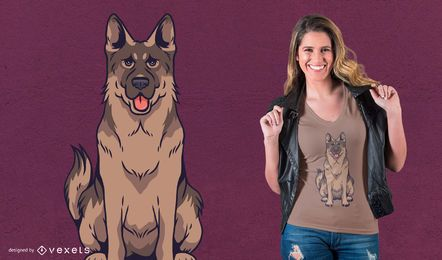 German Shepherd Dog T-Shirt Design