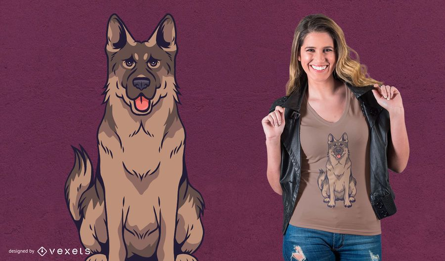 German Shepherd Dog T-Shirt Design