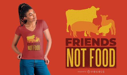 Diseño de camiseta de Animal Friends