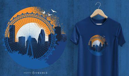 Projeto do t-shirt de Houston