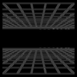 Diseño de la rejilla de la sala 3d