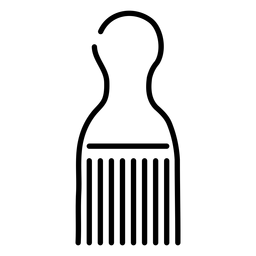 Ícone de pente afro