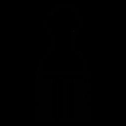 Icono de peine afro