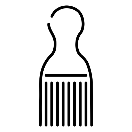 Ícone de pente afro Transparent PNG