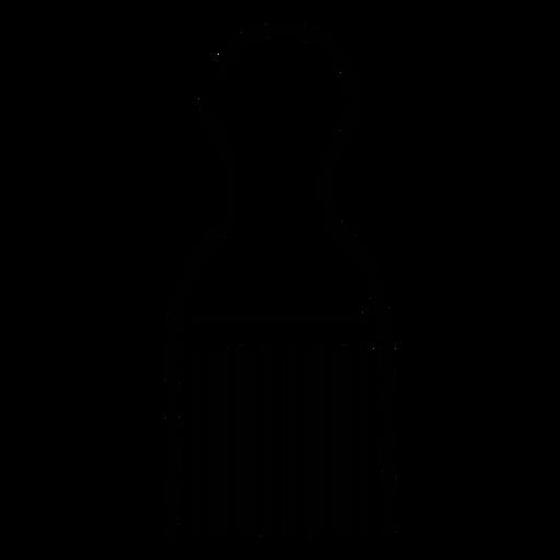 Icono de peine afro Transparent PNG