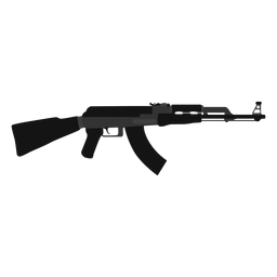 Ak 47 assault rifle flat icon