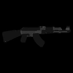 Ak 47 assault rifle flat icon