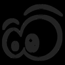 Desenhos animados de olhos emoticon espantado