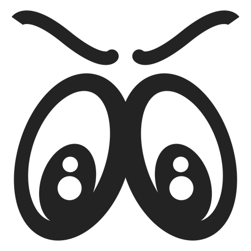 Angry emoticon eyes - Transparent PNG & SVG vector file