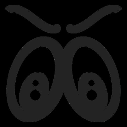 Wütende Emoticon-Augen Transparent PNG