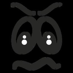Cara de emoticon com raiva