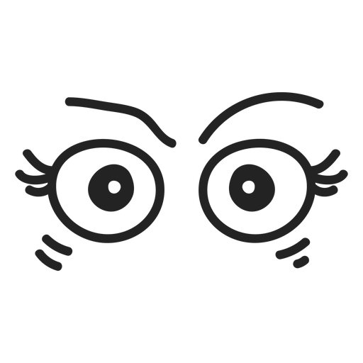Angry female emoticon eyes - Transparent PNG & SVG vector file