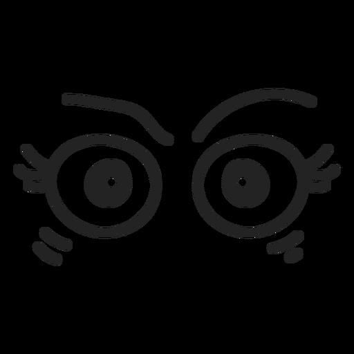 Ojos de emoticon femenino enojado Transparent PNG