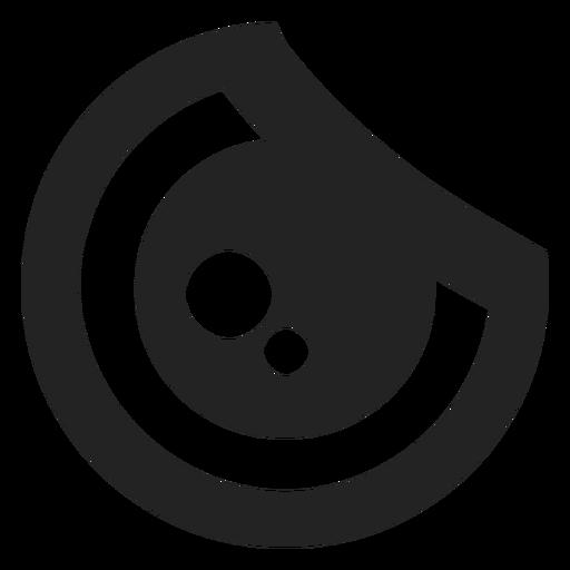 Angry kawaii emoticon eye Transparent PNG